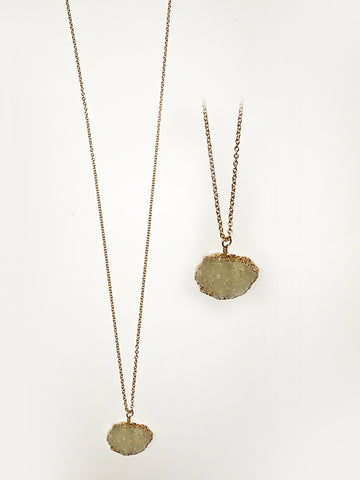 Quartz Druzy 14k Goldfill Necklace