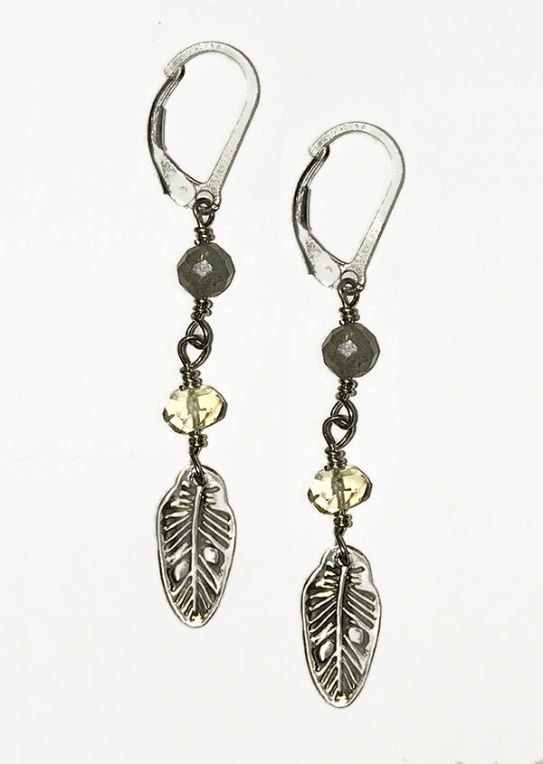 Sterling Silver Feather Earrings