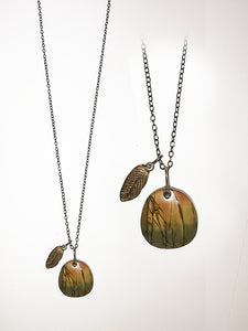 Jasper, Bronze & Sterling Necklace
