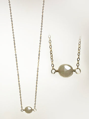 Silverite and 14k Goldfill Necklace