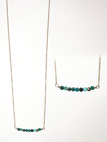 Chrysocolla and 14k Goldfill Necklace