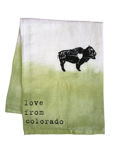 Love From CO (Bison) Dish Towels