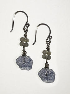 Kyanite/Labradorite Earrings