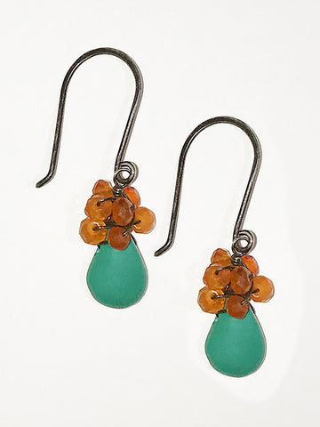 Turquoise/Carnelian Earrings
