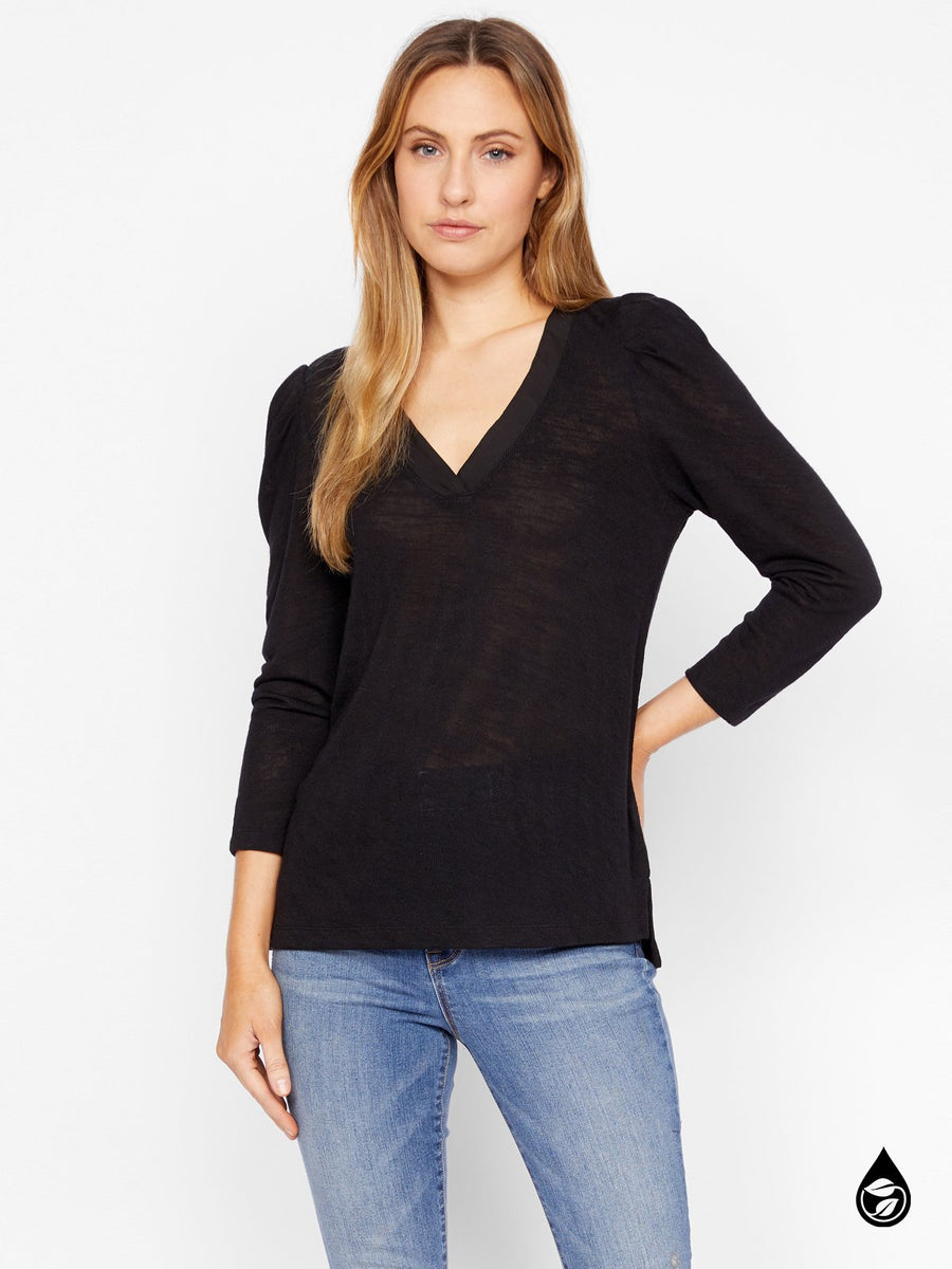 Pleated Sleeve Top Hanna