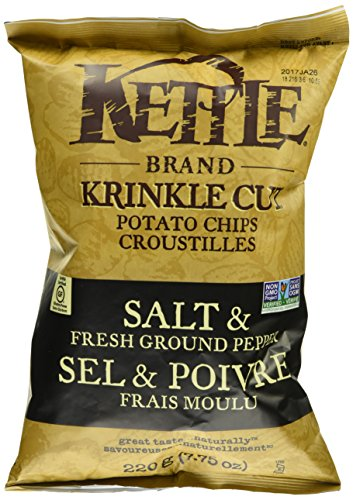 Kettle chips 220gr Ondulées au poivre - Taxable