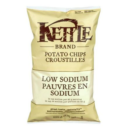 Kettle chips 220gr Pauvre en sodium - Taxable