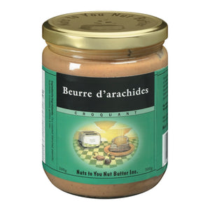 "Nuts to you -Beurre d""arachides croquant -500gr"