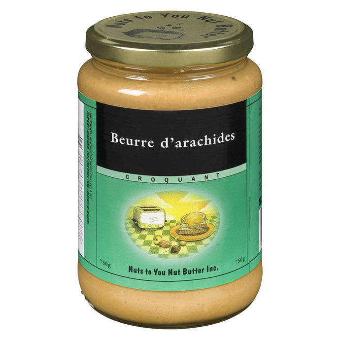 Nuts to you -Beurre d'arachides croquant - 750gr