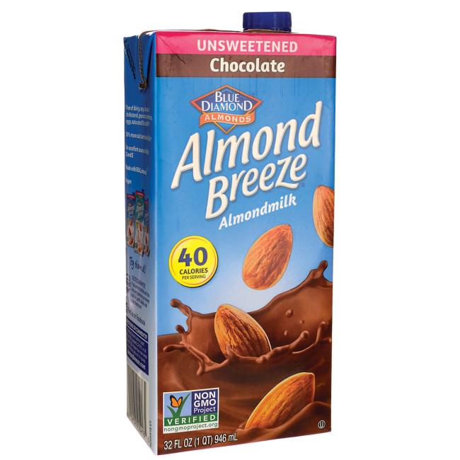 Boisson d'amandes Almond Breeze - Chocolat non sucrée -946ml