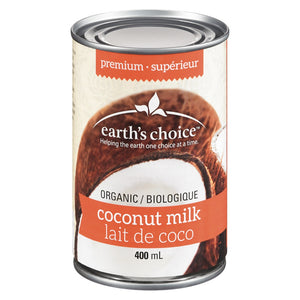 Earth's choice - lait de de coco premium biologique -400ml