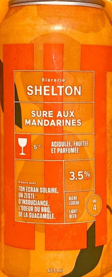 Shelton - Sure aux mandarines- 474ml (consigne incluse)