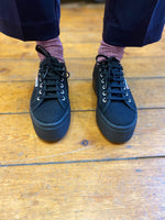 Load image into Gallery viewer, Baskets SUPERGA full black