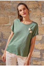 Load image into Gallery viewer, Tee shirt DES PETITS HAUTS romarin