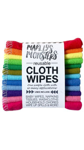 Rainbow Reusable Cloth Wipes