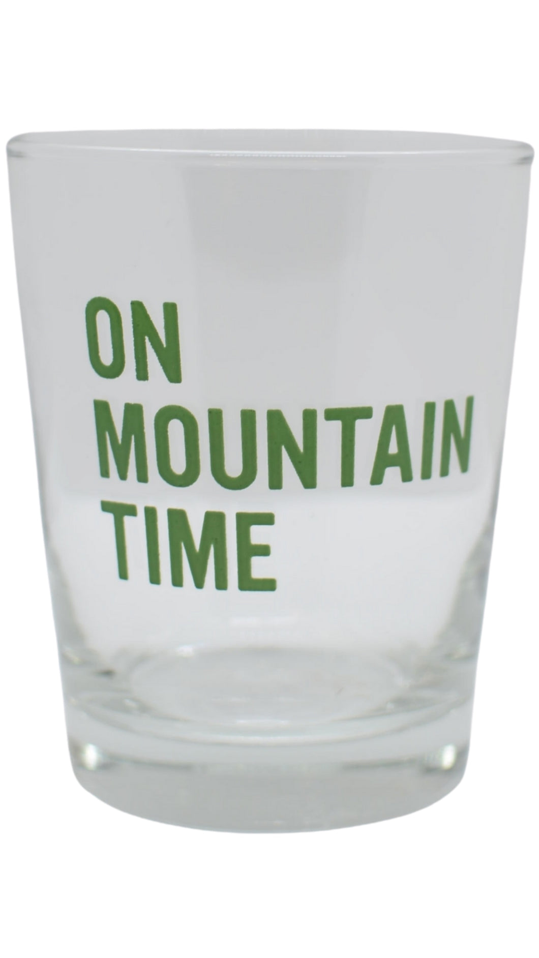 Mountain Time Rocks Glass