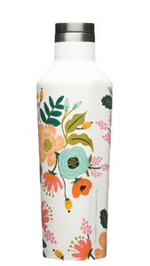 16oz Cream Floral Canteen