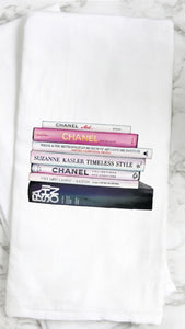 Chanel Books Tea Towel
