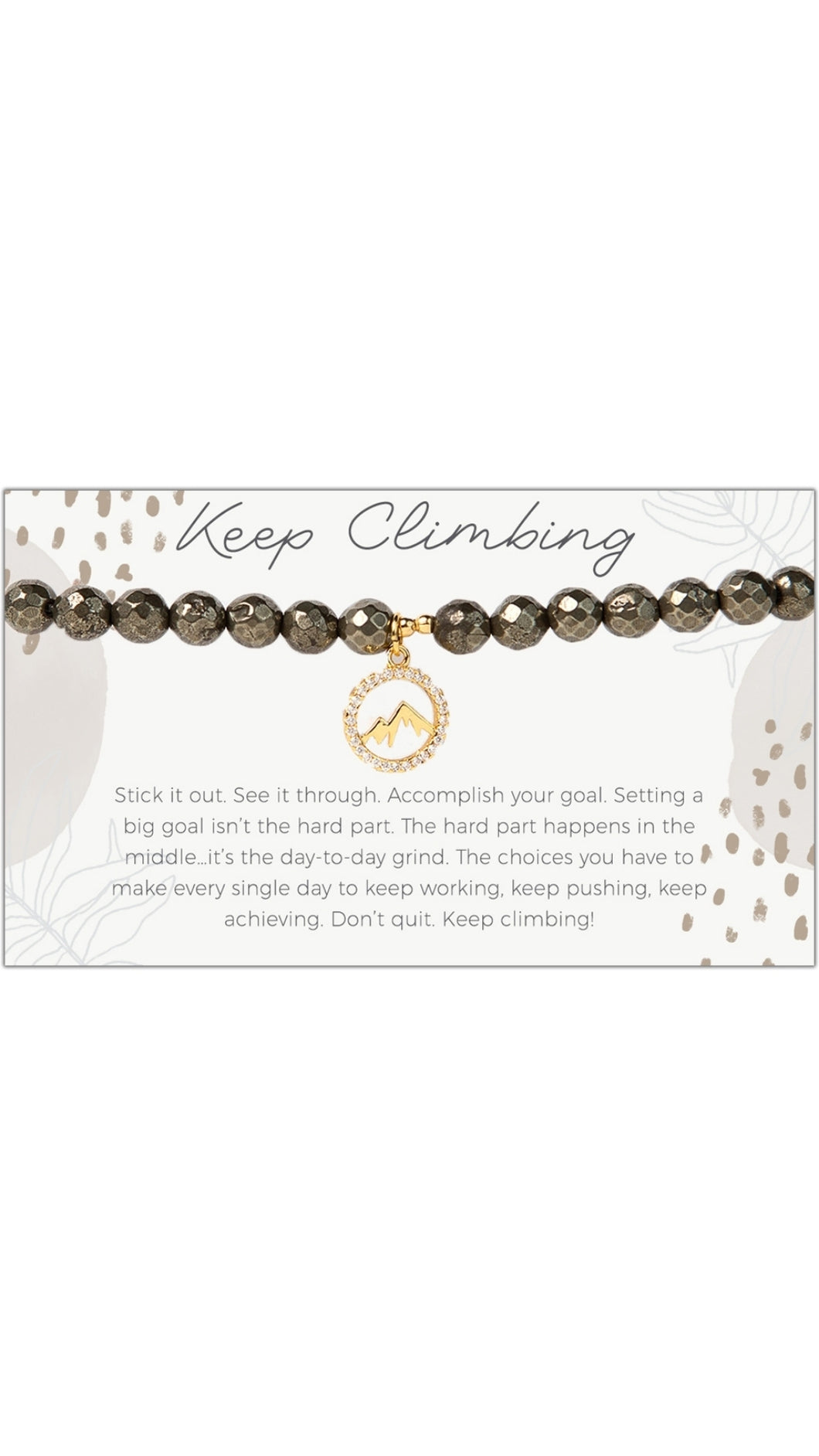 Mountain Keep Climbing Stretch Bracelet