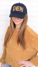 Load image into Gallery viewer, Navy and Gold Denver Hat