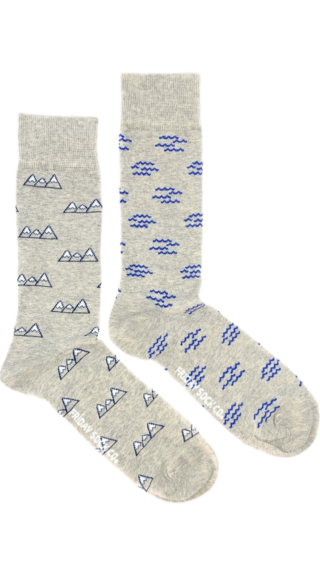 Mountains & Waves Mismatched Socks