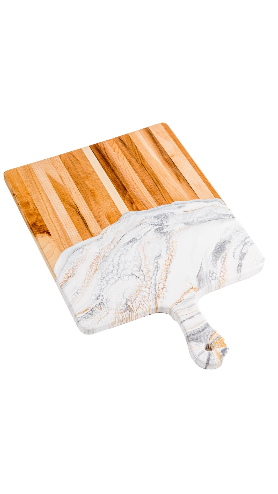 White, Grey, and Gold Cheeseboard 15