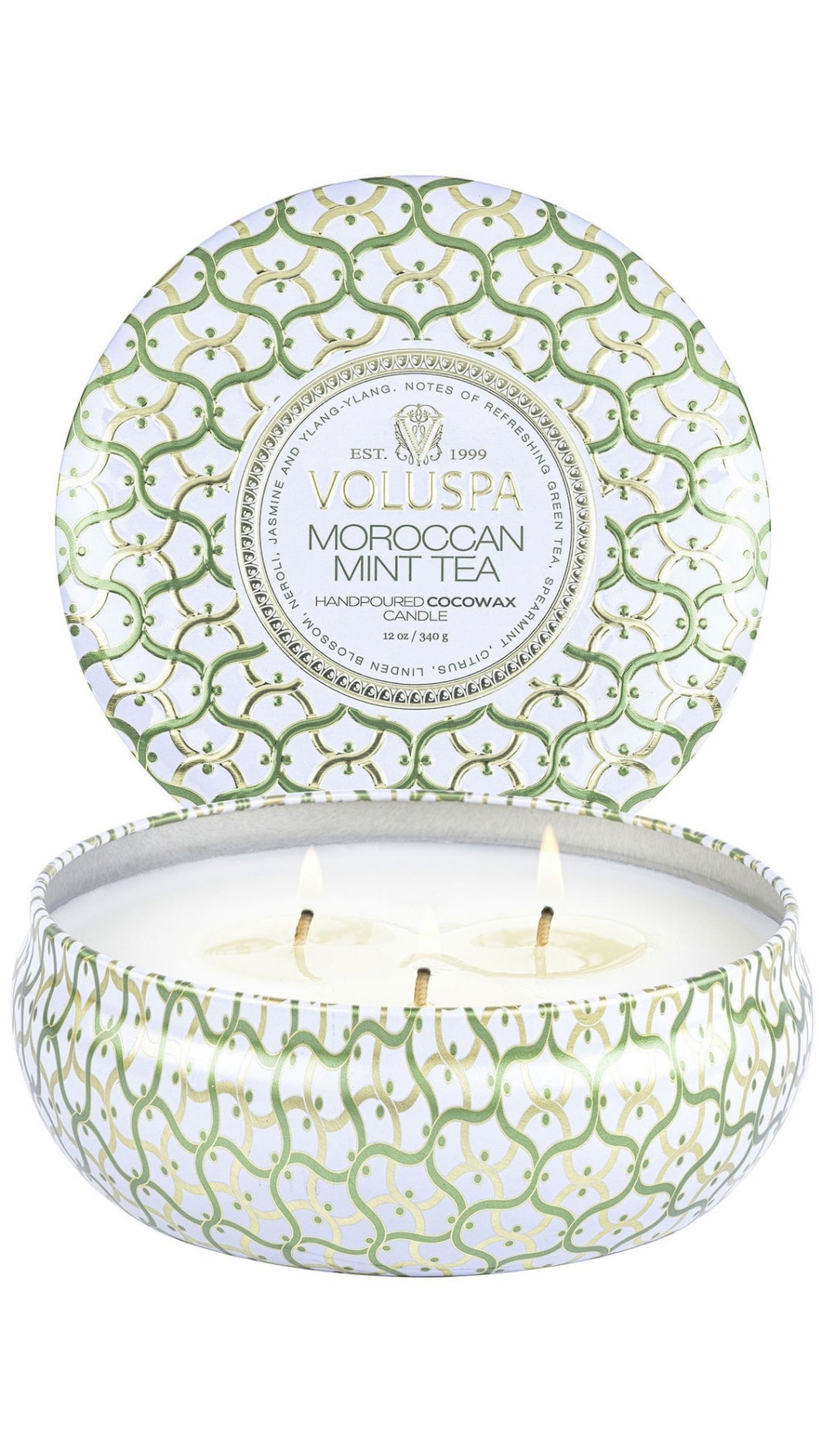 Moroccan Mint 3 Wick Tin Candle 12oz