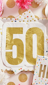 50 Die Cut Birthday Napkins
