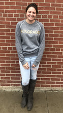 Load image into Gallery viewer, Gold CO Gray Sweatshirt