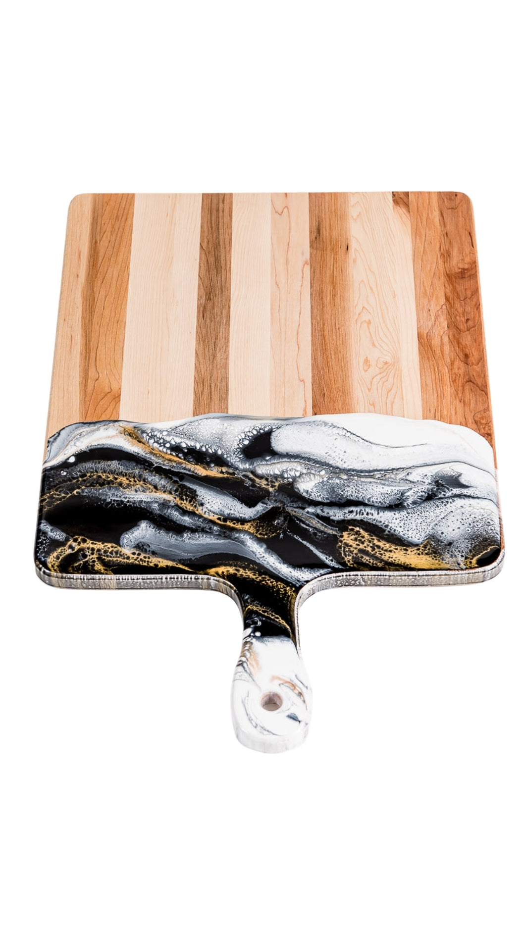 Black, White, and Gold Cheeseboard 15