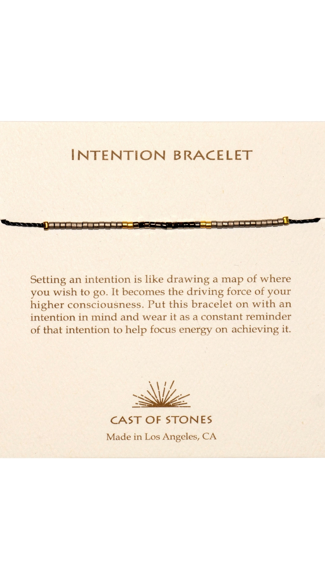 Gold Intention Bracelet
