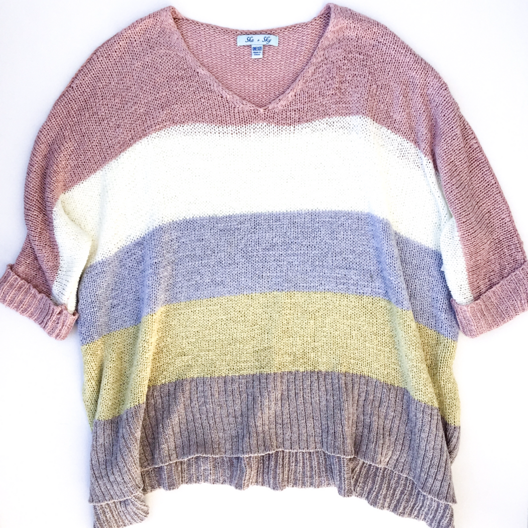She + Sky Sweater Size M (8 10)