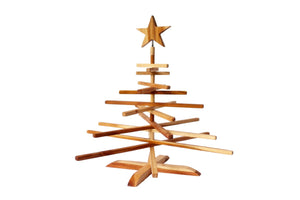 Foldable Teak Christmas Tree, Choose Size