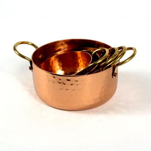Hammered Copper & Gold Nested Measuring Cups