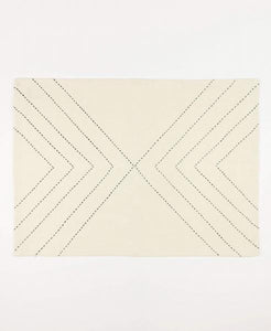 Organic Cotton Arrow Placemat, Set of 2, White