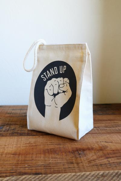 Stand Up Lunch Bag, Grey Ink