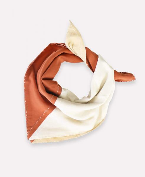 Colorblock Bandana, Rust