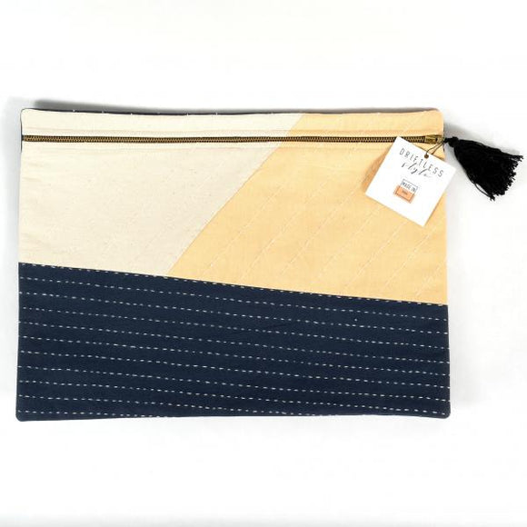 Large Patchwork Slate Pouch