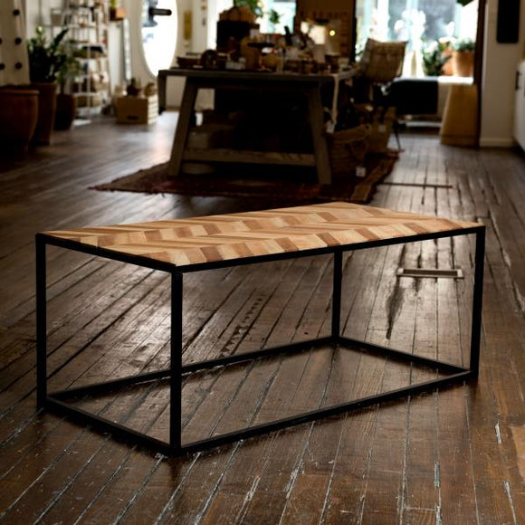 Black Iron & Wood Table