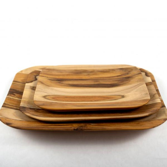 Teak Wood Tray, Small