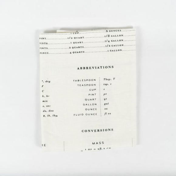 Measures Tea Towel, B/W