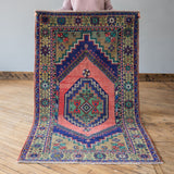 Zehra - Vintage Turkish Rug, 3.7' x 6.6'