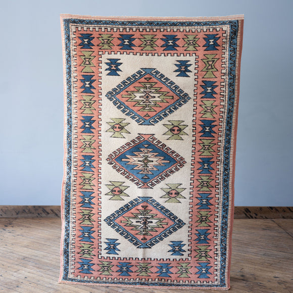 Rezan - Vintage Turkish Rug, 4' x 6.3'