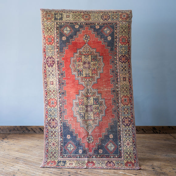 Emine - Vintage Turkish Rug, 3.8' x 6.8'