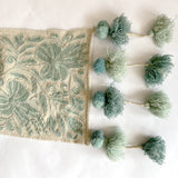 Peruvian Floral Aqua Table Runner