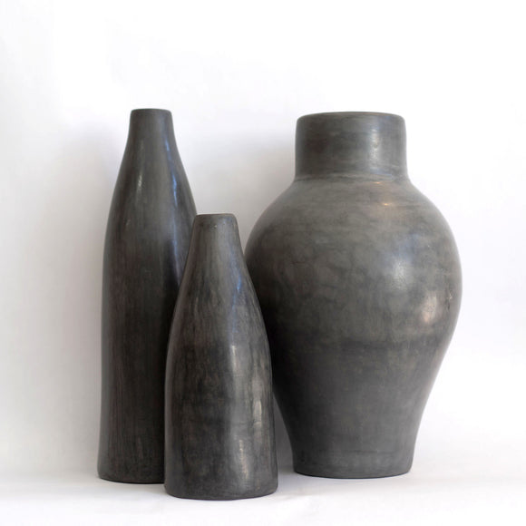 Tadelakt Vase, Grey, Choose Size