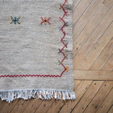 Moroccan Flat Woven Akhnif Runner, Taupe, 2.3' x 10'