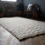 Moroccan Beni Ourain Rug, Dots, 5' x 8'