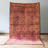 Moroccan Zayan Rug, Warm Purple, 6.3' x 11.2'