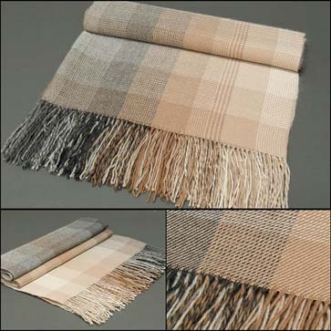 Grey + Browns Fringed Alpaca Throw, 60